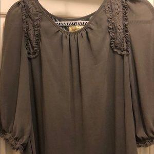 Taupe shift dress